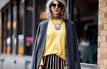 Пола с пуловер - 14 street style идеи