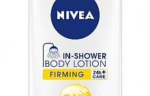 Стягащ лосион за под душа Q 10 In-Shower на Nivea с ментол за охлаждащ ефект.