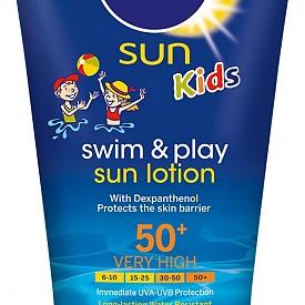 Водоустойчив слънцезащитен лосион Sun Kids Swim & Play на Nivea