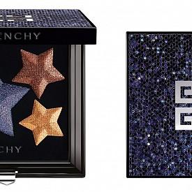 Палитра за очи от коледната колекция Les Nocturnes на GIVENCHY – пигменти с висока концентрация, преплетени с перлен блясък.