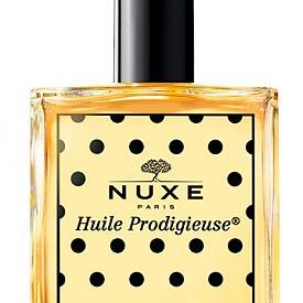 Култовото многофункционално сухо масло Huile Prodigieuse на NUXE е в лимитирана опкавка, дело на илюстраторката Mademoiselle Stef