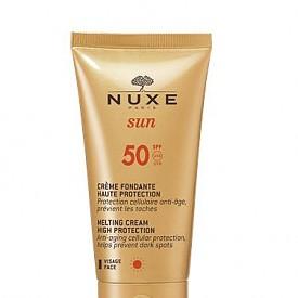 Слънцезащитен крем за лице срещу поява на тъмни петна на NUXE Sun