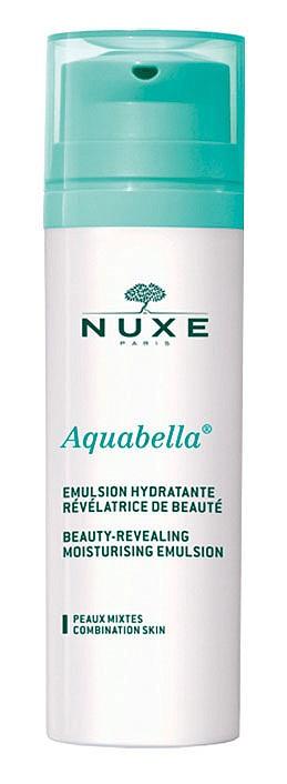 Започнете деня с: хидратиращата емулсия от серията Aquabella на NUXE, която е специално създадена за нуждите на комбинираната кожа и има blur-ефект.