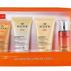 NUXE събира своите слънцезащитни бестселъри в travel формат в един практичен несесер, идеален за пътуване.