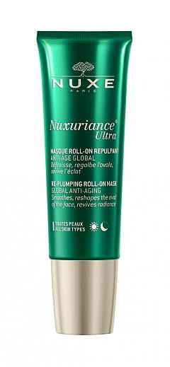 Ролон маска с хиалуронова киселина Nuxuriance Ultra Roll-On Mask на Nuxe с 88% натурални съставки.