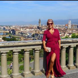 Нели Хаджийска във Флоренция, Италия.