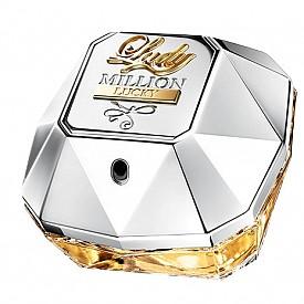 Lady Million Lucky, който има формата на диамант,  ухае на роза, сандалово дърво и малина.