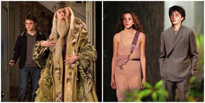 Хари Потър и Дъмбълдор облечени в Dior?