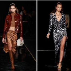 Топмоделите на шоуто на Versace в Ню Йорк