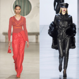 15 визии с кожени панталони – как да ги носим през зимата?