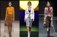 Дължина под коляното: 44 поли от модния подиум