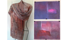 Албена Щениовска-Еглофф, нейни картини живопис и шалове