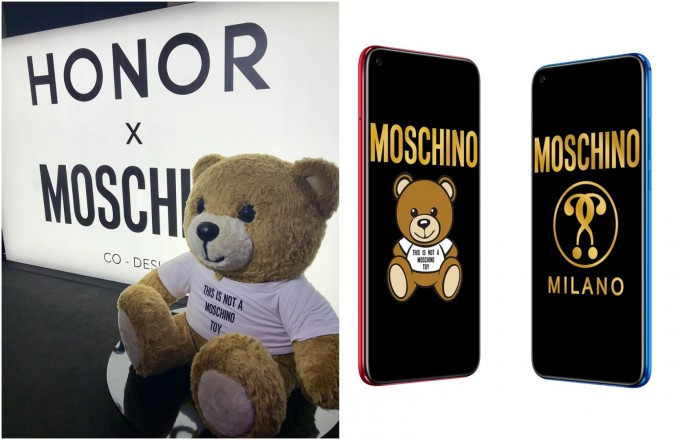 Teddy Bear, фешън иконата на Moschino, звездата в смартфона Honor View20
