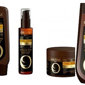 Серия за стресирана и много суха коса Optimum Oil Repair на ORZENE, която включва шампоан, балсам, маска и еликсир за стресирана и много суха коса. Продуктите са с комплекс SHINE ELIXIR (бира, серамиди и фитопротеини). Прониквайки във фибрите на косъма, комплексът подсилва структурата му и осигурява по-здрав външен вид. Серията Optimum Oil Repair на ORZENE е обогатена с олео-фитокератин за ефективно възстановяване на кутикула на косъма, подхранване и хидратация. Специализираният комплекс Golden Oils (абисинско масло, макадамия, златна жожоба) прави косата копринено гладка и мека.