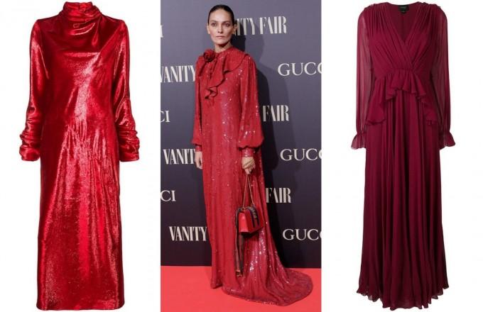11 червени рокли