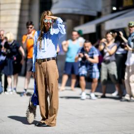 Ана Дело Русо по време на Седмицата на висшата мода в Париж за сезон есен-зима 2015