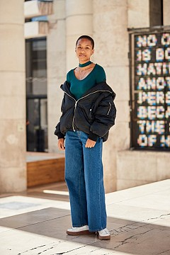 Street style предложения за стайлинг с пухено яке