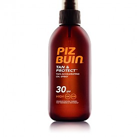 Олио за бързо придобиване на тен Tan & Protect SPF30 на Piz Buin
