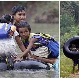 През реката върху гума, Филипините