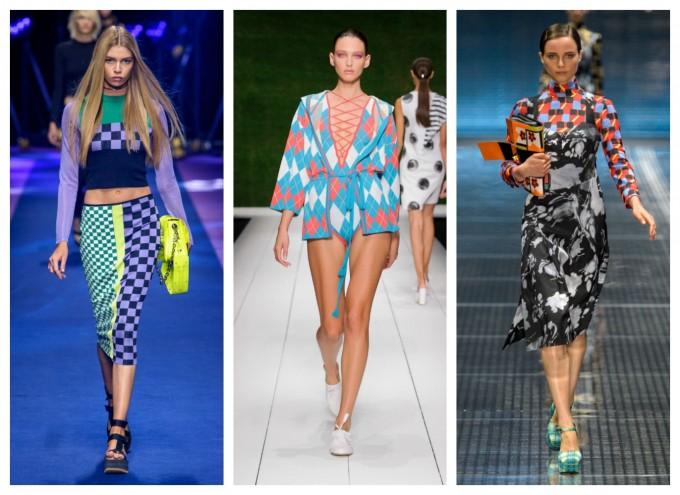 Геометрия от Versace, Prada и Laura Biagiotti