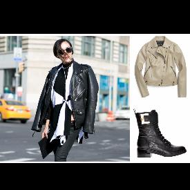 Коженото яке е модното вдъхновение за този уикенд