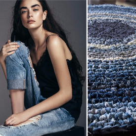 НАПРАВИ СИ САМ: ефектно килимче от СТАРИТЕ ДЪНКИ