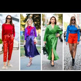 Street style: Градски стайлинг в наситени цветове