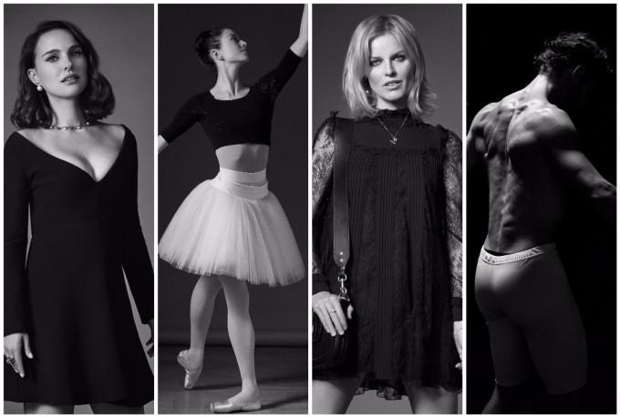 Натали Портман, Хана О'Нийл, Ева Херцигова и Жоан Бишо (отляво надясно) сред първите в #DiorLoveChain.