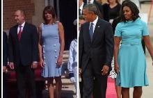 Десислава Радева (вляво) и Мишел Обама (вдясно)