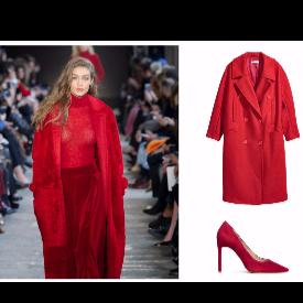 Max Mara; палто и обувки H&M