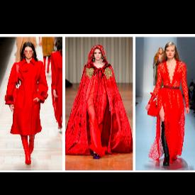 30 вдъхновения в червено от модния подиум