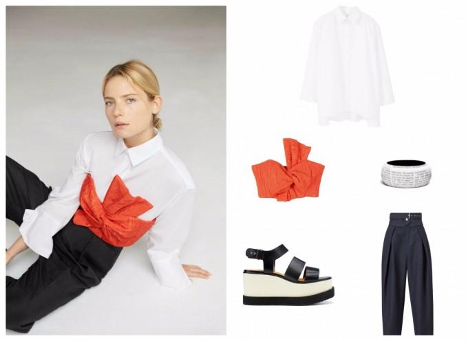 С какво да носим бяла риза през пролетта?