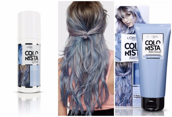 Със спрей или оцветяващ крем от L'Oreal Colorista може да имате сини кичури за седмица или три.