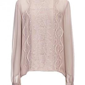 Блуза от дантела и коприна Pinko
