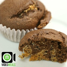 Questbar cookies and cream protein muffins  1- Pre heat over to 200C (400F) 2- In a bowl mix 360ml (1.5 cups) whole wheat flour, 60ml (1/4 cup) cocoa powder, 1 scoop (30g) chocolate protein powder, dash of salt, 1 teaspoon baking powder, 120ml (1/2 cup) maple syrup, 1 egg, and 240ml (1 cup) water. 3- Cut 2 cookies and creme quest bars into small pieces and add them to the mix 4- Place in muffin tray and bake for about 13-15 minutes.  NOTES: I used Quest protein powder. You can also make this without the Questbars. Makes about 10 muffins Approx. Macros: per muffin Kcal:161 Carbs:30g Fat:3g Protein:10g