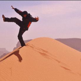 Георги Милков в Сахара