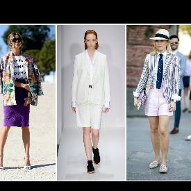 Как да носите сако през лятото