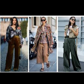 Широките панталони - хит и този сезон