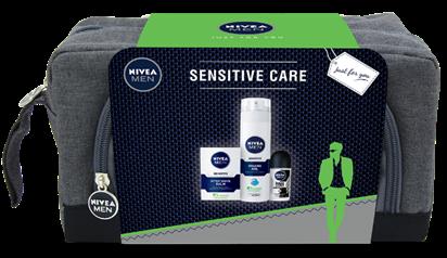 Комплект Sensitive Care на NIVEA: гел за бръснене, балсам за...