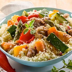Кус-кус с говеждо и зеленчуци