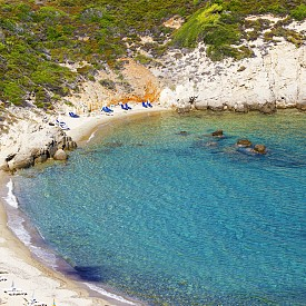 Little Bannana Beach на гръцкия остров Скиатос