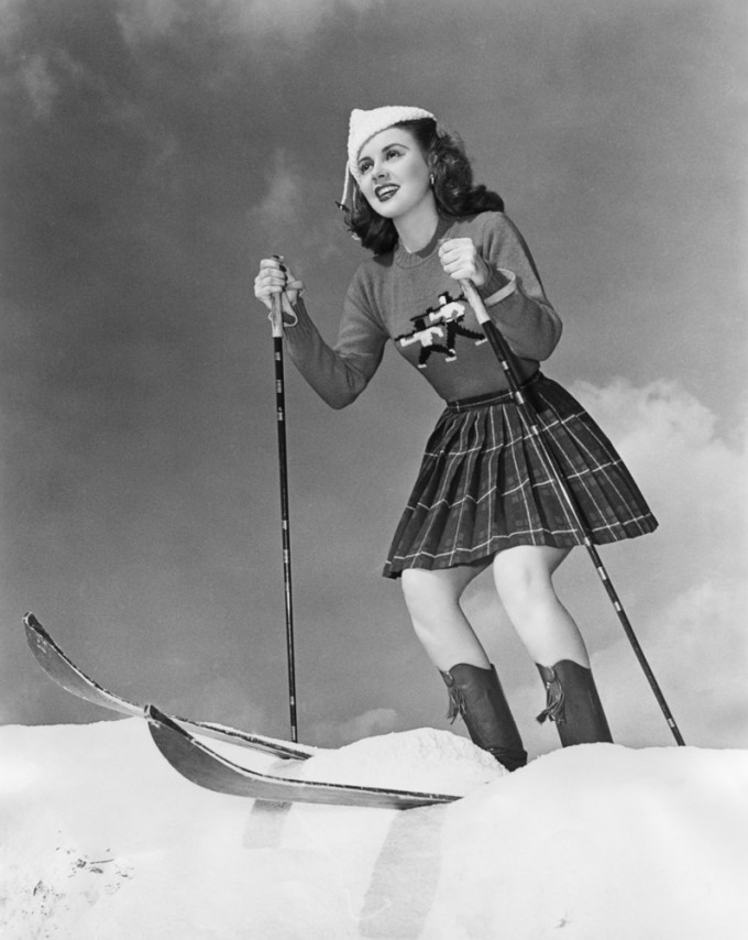 Винтидж ски спускане