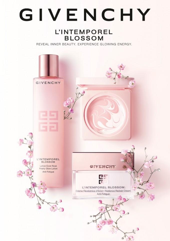 Лосион и крем от серията  L'Intemporel Blossom на GIVENCHY