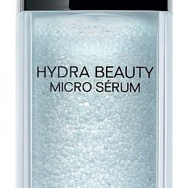 Хидратиращ серум за лице Hydra Beauty Micro Serum на Chanel с микрокапки, съдържащи нова липоразградима активна съставка: Камелия Алба ОФА* .