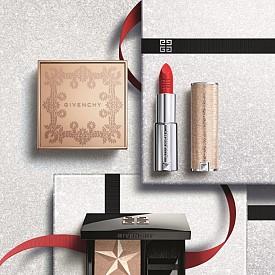 Коледната колекция Mystic Glow на Givenchy е вдъхновена от мистичната красота на ангелите... Очакват ви хайлайтър, червило, пудра и продукт 2-в-1 – сенки и молив.