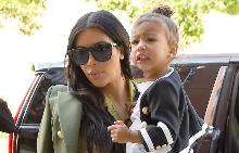 Ким с дъщеря си Норт