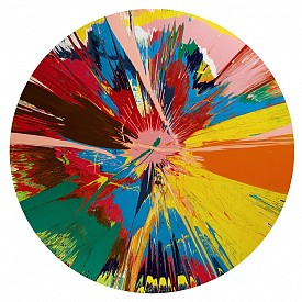 Damien Hirst Beautiful, Shattering, Slashing, Violent, Pinky, Hacking, Sphincter Painting, 1995