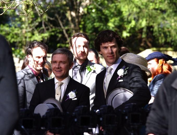 """Бенедик и Мартин в кадър от сериала """"Шерлок"""""""