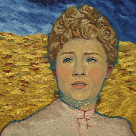 Сърша Ронан в ролята на рисуваната Маргарет Гаше
