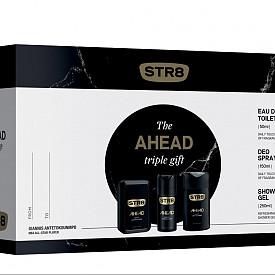 Комплект Ahead на STR8: 50 мл EDT, 250 мл душ-гел и дезодорант-спрей, 21.60 лв.